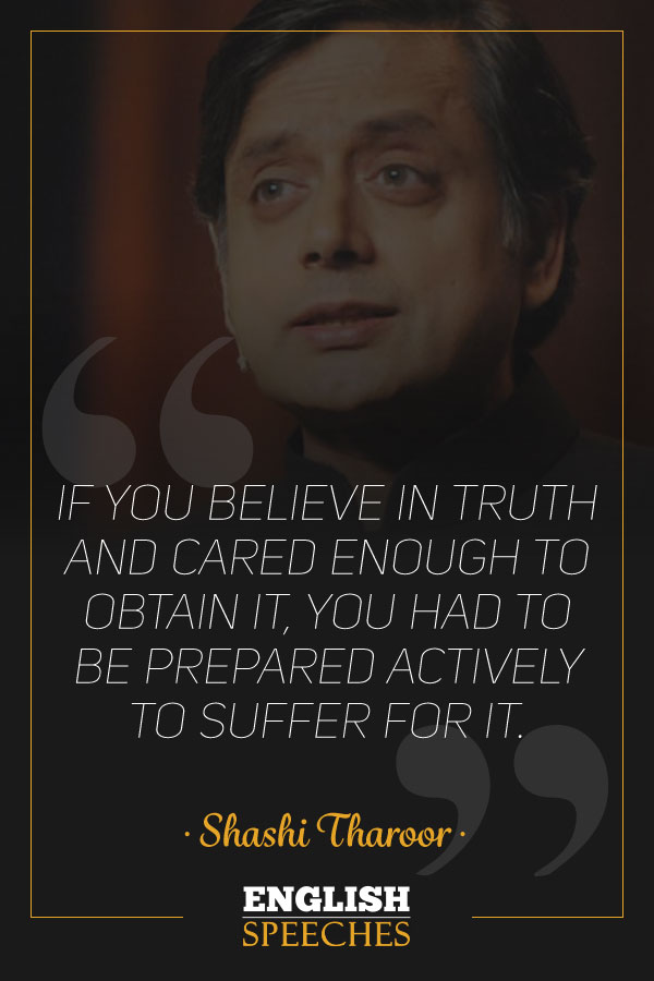 Shashi Tharoor Quote