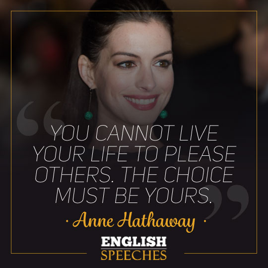 Anne Hathaway Quote